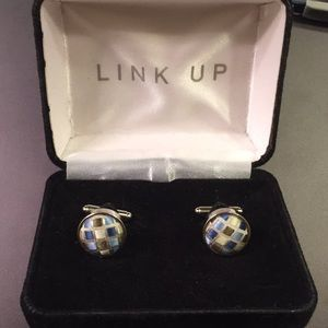 Men's multicolored cufflinks
